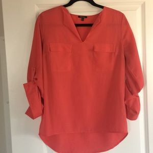 Peach Silky Blouse